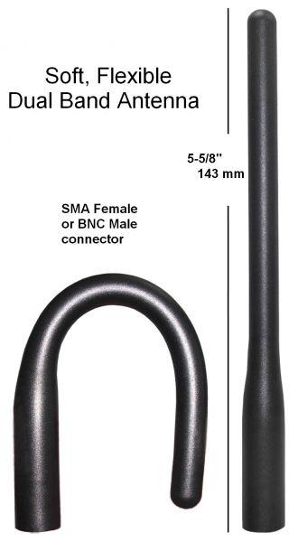 Soft, Flexible Dual Band Antenna