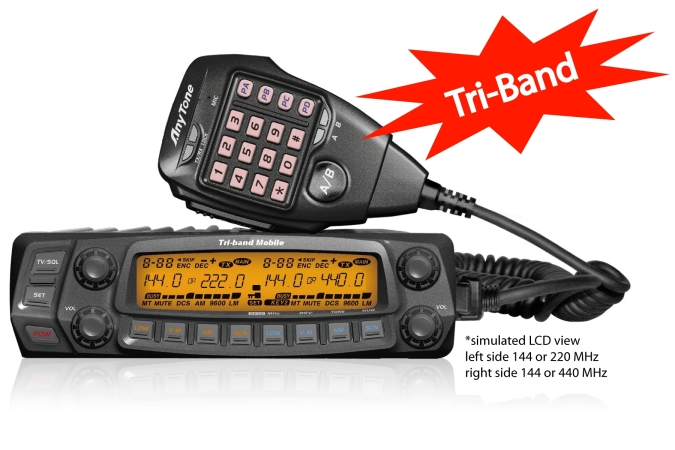 AnyTone Tri-Band Mobile