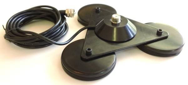 Three Magnet Antenna Mount